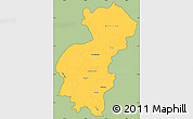 Savanna Style Simple Map of Santa Ana, cropped outside