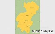 Savanna Style Simple Map of Santa Ana, single color outside