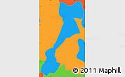Political Simple Map of El Triunfo