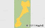 Savanna Style Simple Map of El Triunfo