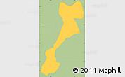Savanna Style Simple Map of El Triunfo, single color outside