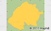 Savanna Style Simple Map of Estezuelas, single color outside