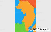 Political Simple Map of Nueva Granada