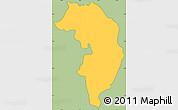 Savanna Style Simple Map of Nueva Granada, cropped outside