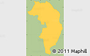 Savanna Style Simple Map of Nueva Granada, single color outside