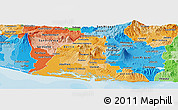 Political Shades Panoramic Map of Usulutan