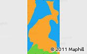 Political Simple Map of San Buena Ventura