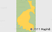Savanna Style Simple Map of San Buena Ventura, single color outside