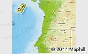 Physical 3D Map of Equatorial Guinea