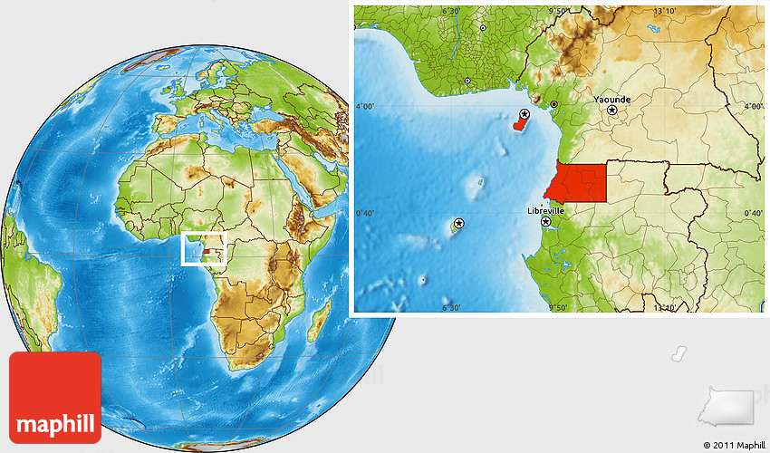 Physical location map of equatorial guinea gumiabroncs Images