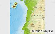 Physical Map of Equatorial Guinea