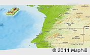 Physical Panoramic Map of Equatorial Guinea
