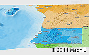 Political Shades Panoramic Map of Equatorial Guinea