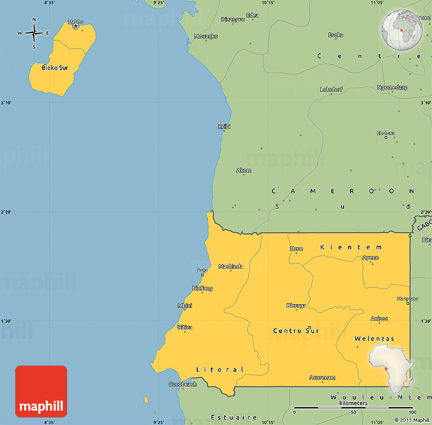Savanna style simple map of equatorial guinea gumiabroncs Images
