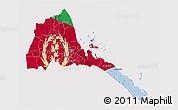 Flag 3D Map of Eritrea