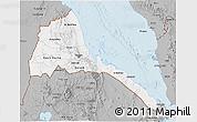 Gray 3D Map of Eritrea