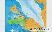 Political 3D Map of Eritrea