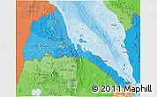 Political Shades 3D Map of Eritrea