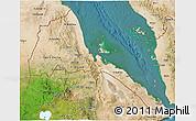 Satellite 3D Map of Eritrea