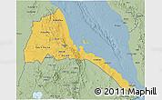 Savanna Style 3D Map of Eritrea