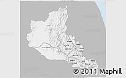 Gray 3D Map of Anseba, single color outside
