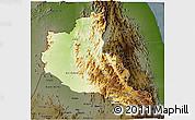 Physical 3D Map of Anseba, darken
