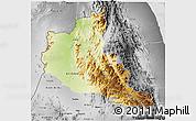 Physical 3D Map of Anseba, desaturated