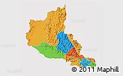 Political 3D Map of Anseba, cropped outside