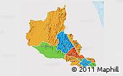 Political 3D Map of Anseba, single color outside