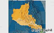 Political Shades 3D Map of Anseba, darken