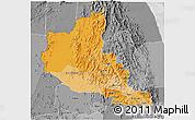 Political Shades 3D Map of Anseba, desaturated