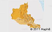 Political Shades 3D Map of Anseba, single color outside