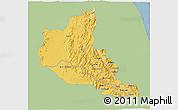 Savanna Style 3D Map of Anseba, single color outside