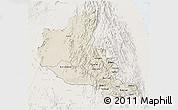 Shaded Relief 3D Map of Anseba, lighten