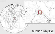Blank Location Map of Adi Teklezan