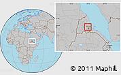 Gray Location Map of Adi Teklezan