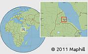 Savanna Style Location Map of Adi Teklezan