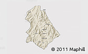 Shaded Relief 3D Map of Asmat, cropped outside