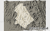 Shaded Relief 3D Map of Asmat, darken