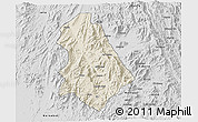 Shaded Relief 3D Map of Asmat, desaturated