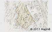 Shaded Relief 3D Map of Asmat, lighten