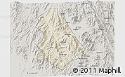 Shaded Relief 3D Map of Asmat, semi-desaturated