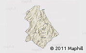 Shaded Relief 3D Map of Asmat, single color outside