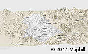 Classic Style Panoramic Map of Asmat