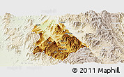 Physical Panoramic Map of Asmat, lighten