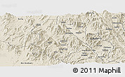 Shaded Relief Panoramic Map of Asmat