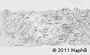 Silver Style Panoramic Map of Asmat