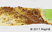Physical Panoramic Map of Elabered