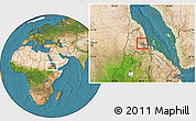 Satellite Location Map of Gheleb