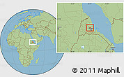 Savanna Style Location Map of Gheleb